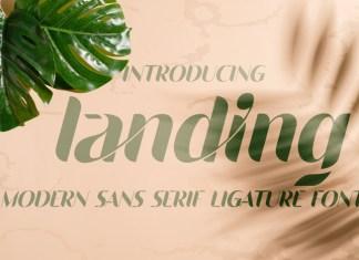 landing font