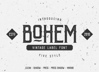 Bohem Press Font