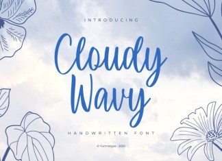 Cloudy Wavy Font