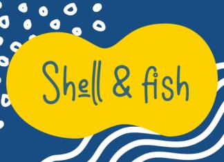 Shell & fish Font