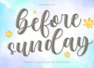 Before Sunday Font
