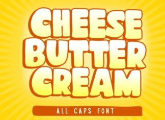 Cheese Butter Cream Font