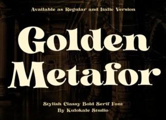 Golden Metafor Font