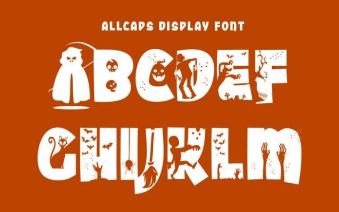 Halloween Party Display Font
