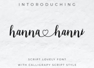 Hanna Hanni Font
