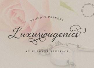 Luxuriougenics Font