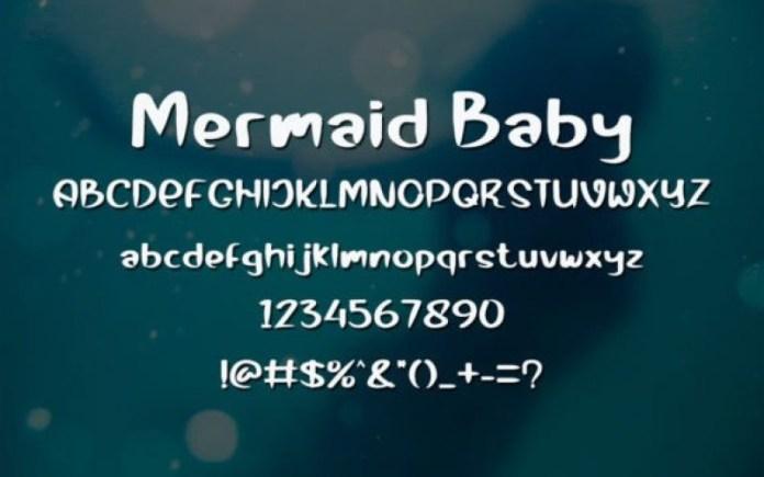 Mermaid Baby Font