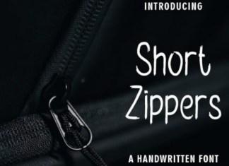 Short Zippers Font