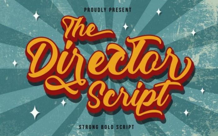 The Director Script Font