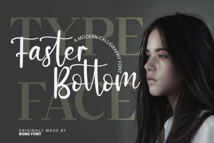 Faster Bottom Font