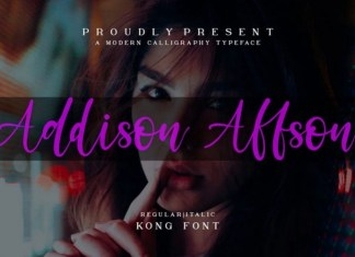 Addison Affson Font