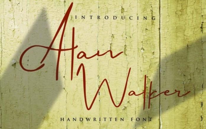 Alan Walker Font