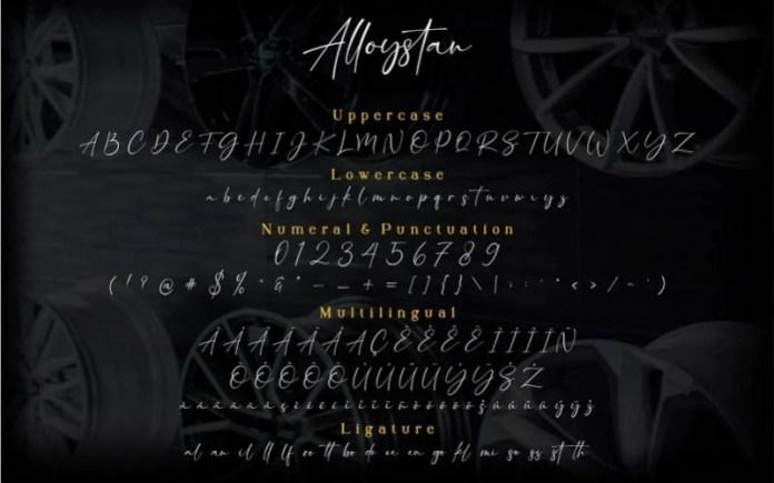 Alloystan Font