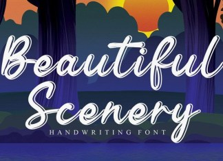 Beautiful Scenery Font