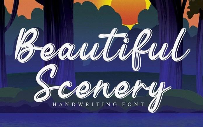 Beautiful Scenery Font