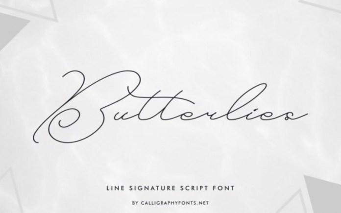 Butterlies Font