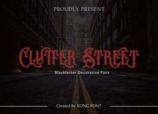 Clutter Street Font