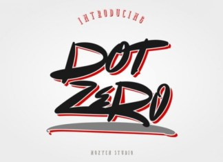 Dot Zero Font