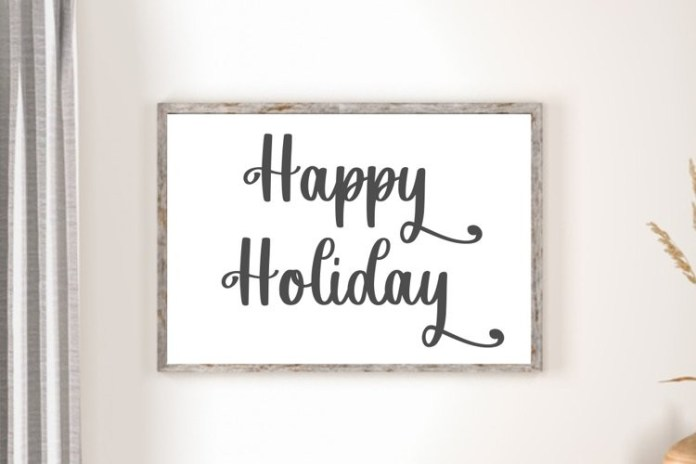 Sweet Holiday Font