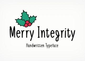 Merry Integrity Font
