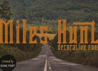 Miles Hunt Font