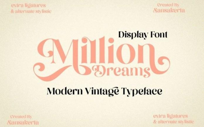 Million Dreams Font