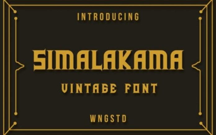 Simalakama Font