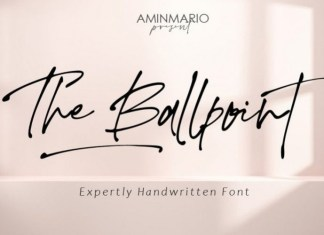 The Ballpoint Font