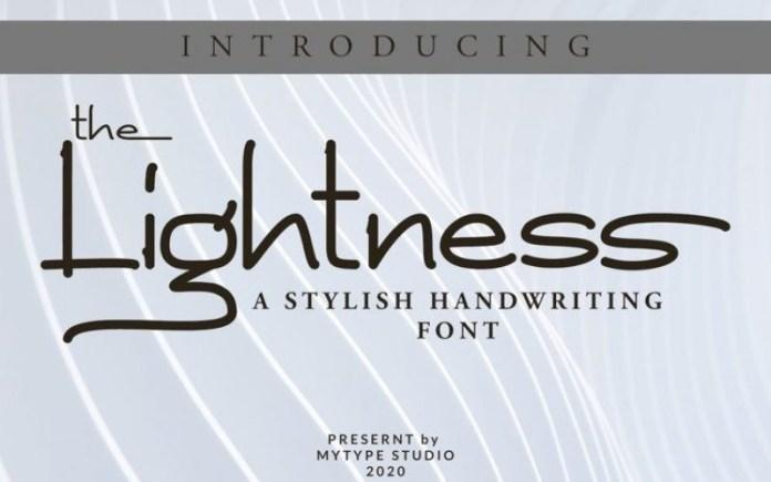 The Lightness Font