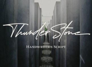 Thunder Stone Font