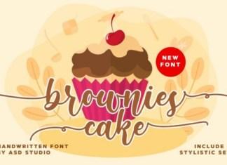 Brownies Cake Font