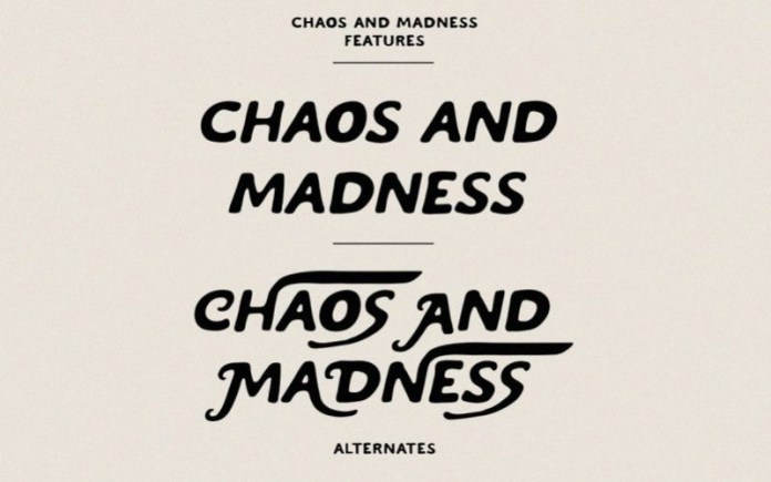 Chaos And Madness Font