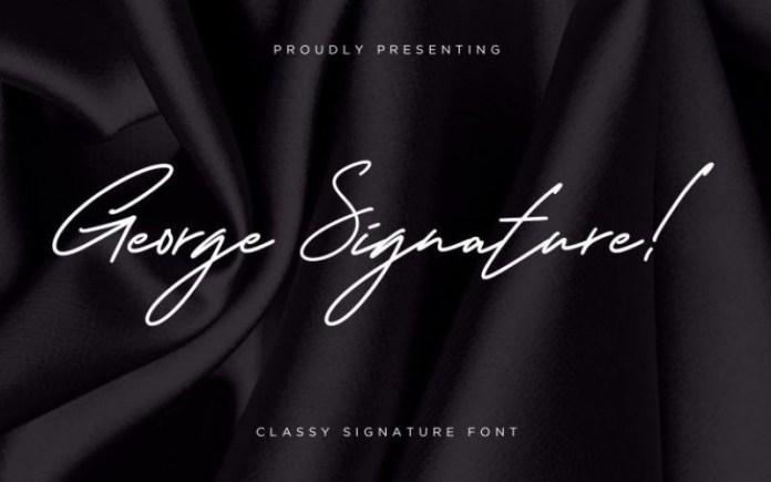 George Signature Font