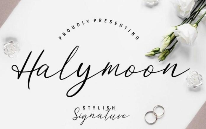 Halymoon Font