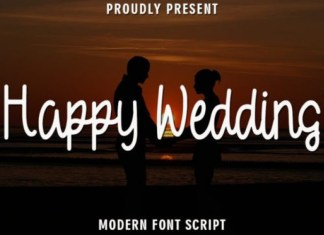 Happy Wedding Font