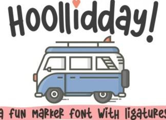 Hoolliddayy Font