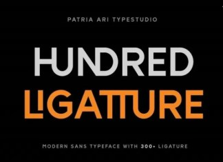 Hundred Ligatture Font
