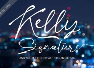 Kelly Signature Font