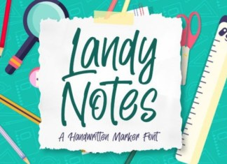 Landy Notes Font