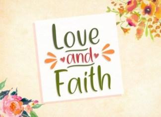 Love and Faith Font