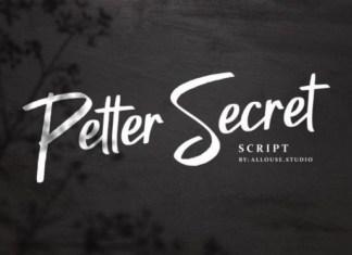 Petter Secret Font