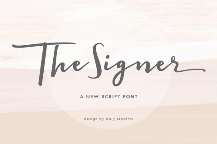 The signer Font