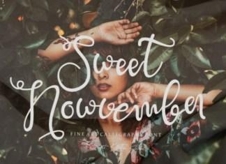 Sweet Nowvember Font