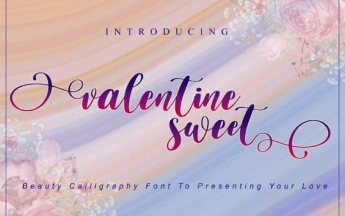 Valentine Sweet Font