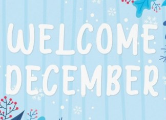 Welcome December Font