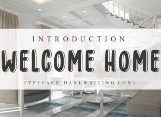 Welcome Home Font