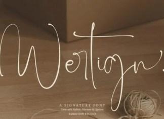 Wertign Font