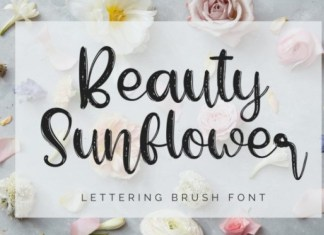 Beauty Sunflower Font