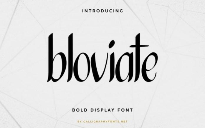 Bloviate Font