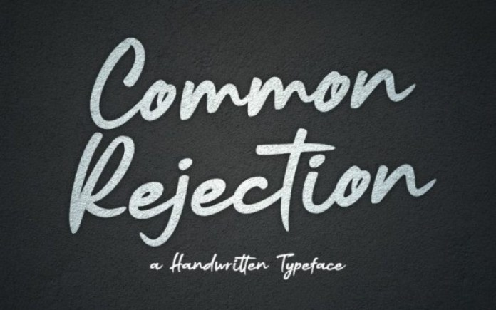 Common Rejection Font